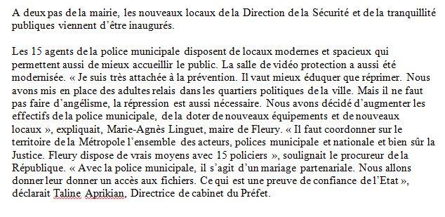 Capture Texte de madame Marie-Agnès Linguet Conseillère régionale et Maire de la ville de Fleury-les-Aubrais 2019 (13.03.2019).JPG