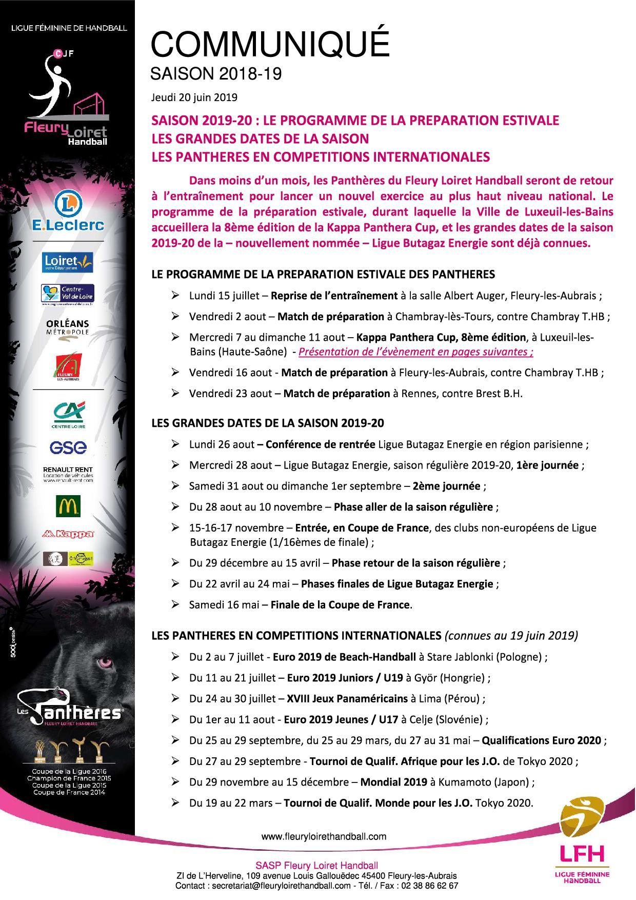 Communiqué Fleury Loiret Handball - Jeudi 20 juin 2019 - Communiqué Fleury Loiret Handball - Jeudi 20 juin 20191.jpg