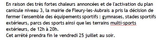 Capture Fermeture des équipements sportifs à fleury pour cause de très fortes chaleurs. 2019 (25.07.2019).JPG