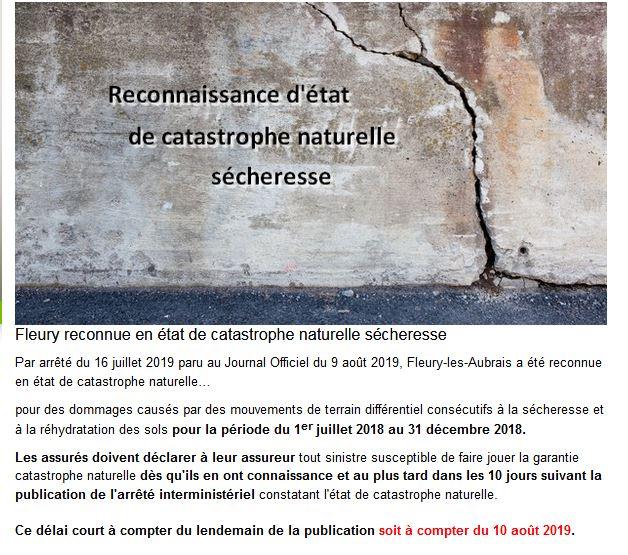 Capture Fleury reconnue en état de catastrophe naturelle sécheresse..JPG