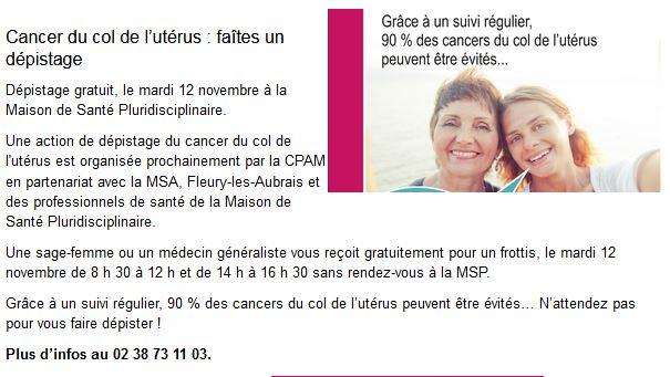 Capture Cancer du col de l'utérus - faîte un dépistage 2019 (12.11.2019) - Copie.JPG