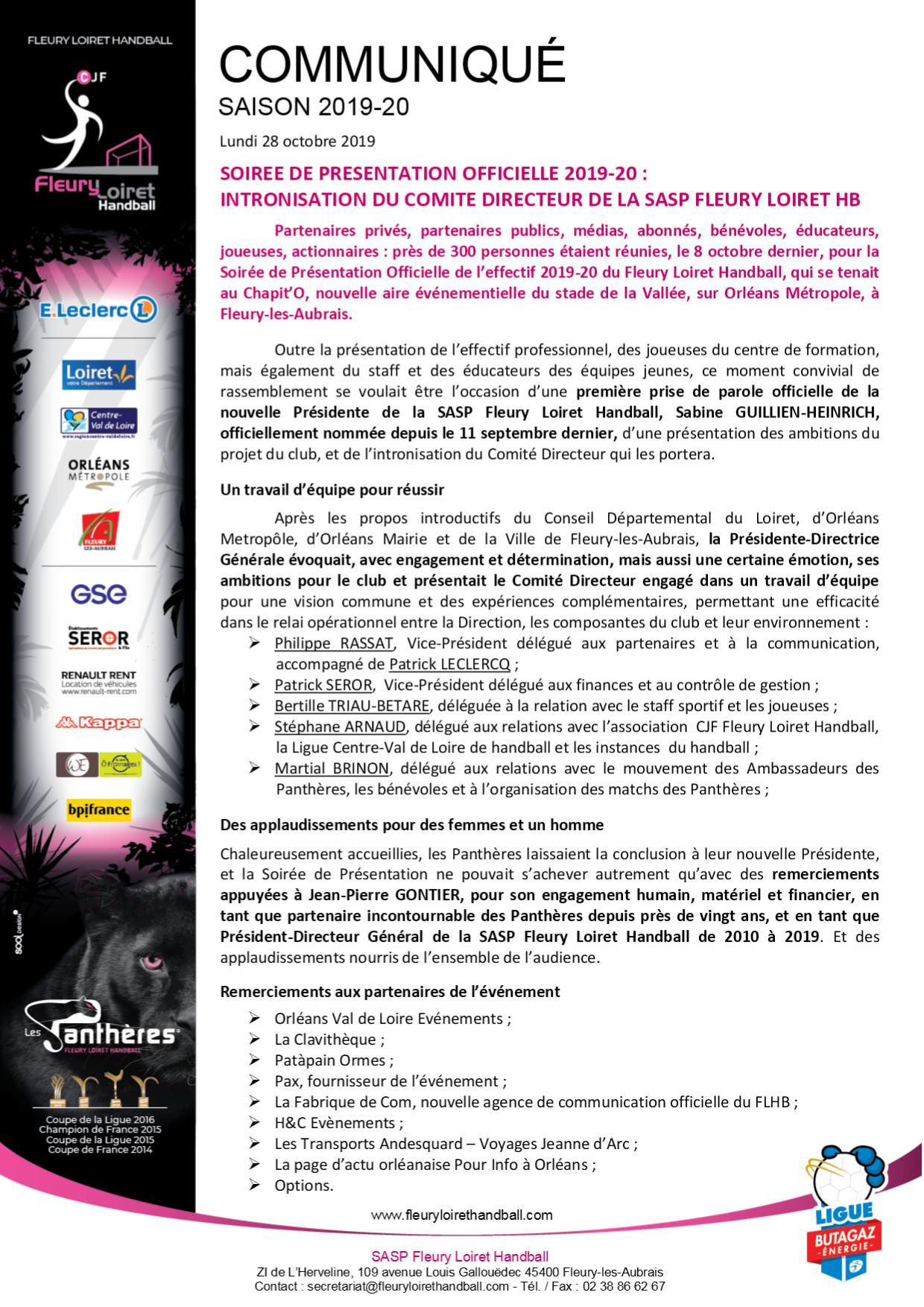 Aout 2015 - Communiqué Fleury Loiret Handball - Lundi 28 octobre 2019.jpg