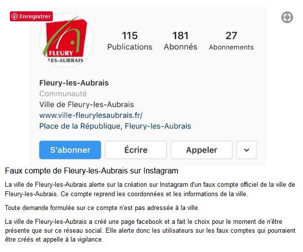 Capture Faux compte de Fleury-les-Aubrais sur instagram 2019.JPG