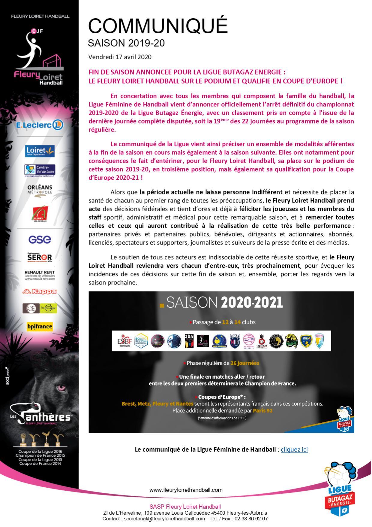 Aout 2015 - Communiqué Fleury Loiret Handball - Vendredi 17 avril 2020.jpg