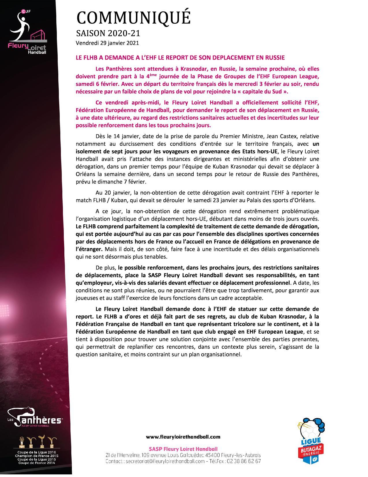 Communiqué Fleury Loiret Handball - Vendredi 29 janvier 2021.jpg