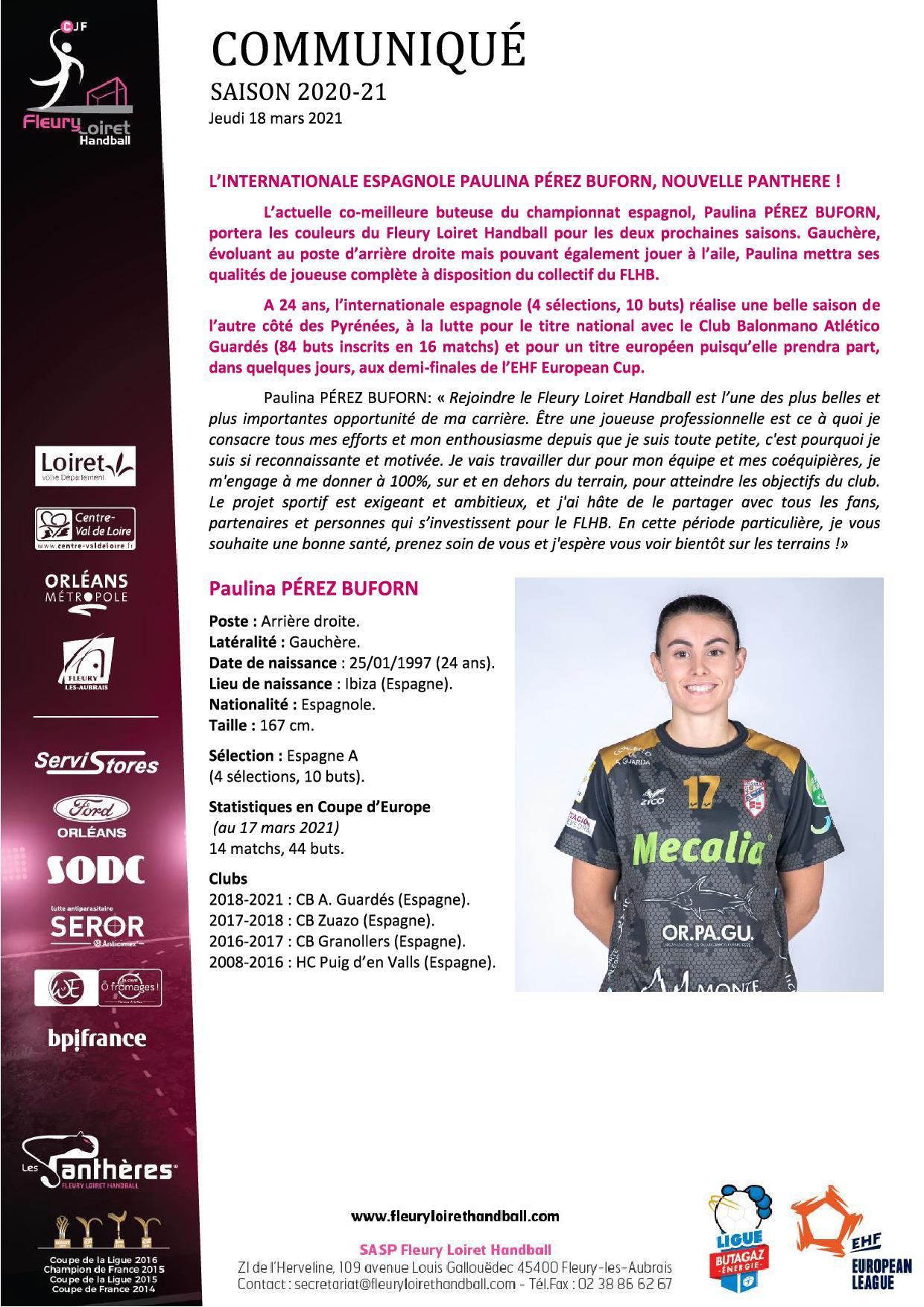 Communiqué Fleury Loiret Handball - Jeudi 18 mars 2021.jpg