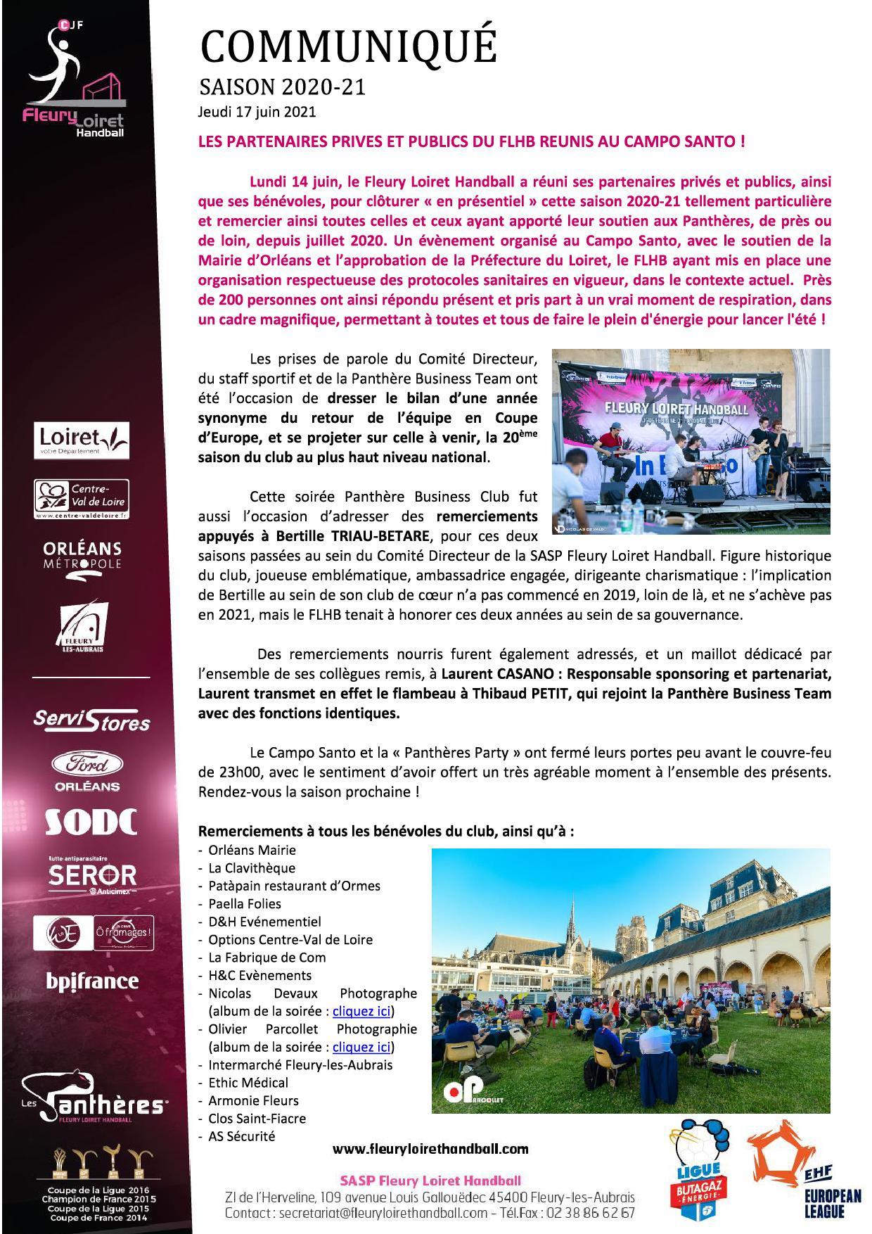 Communiqué Fleury Loiret Handball - Jeudi 17 juin 2021.jpg