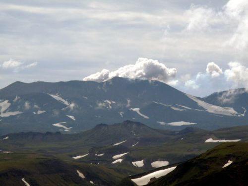 Volcan Gorely, Kamchatka, Russie