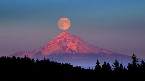 Mont Hood, Chaine des Cascades, Etat de Washington, Etats - Unis