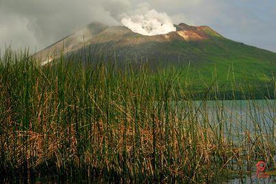 Volcan Gaua dans l'archipel Vanuatu