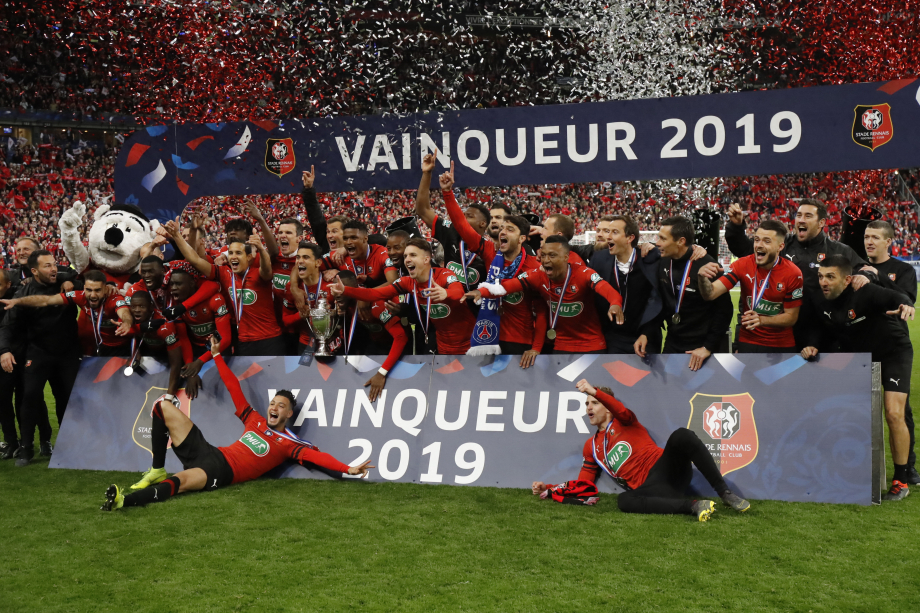 Rennes avec les trophées