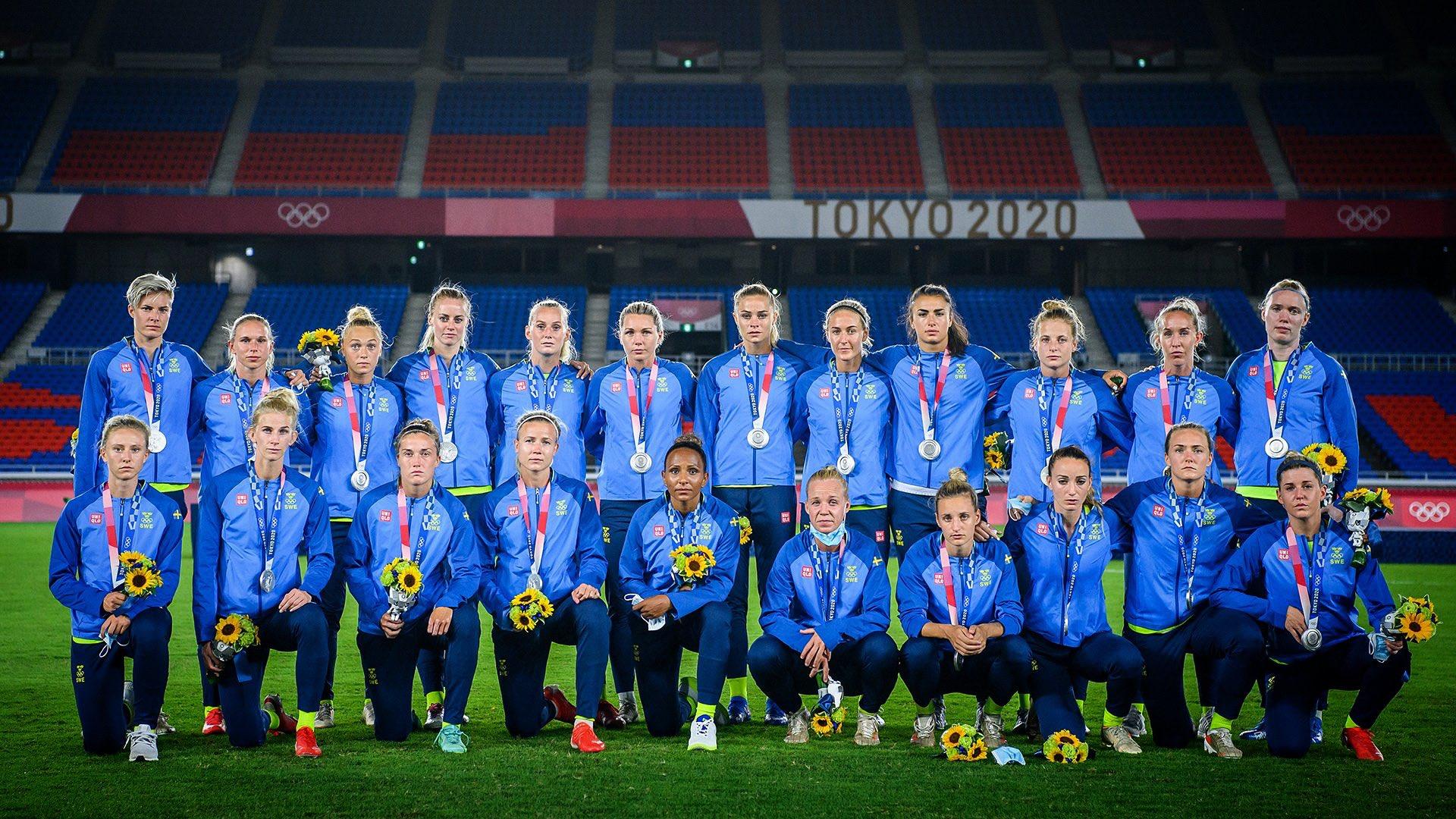 Suède avec la médaille d'argent