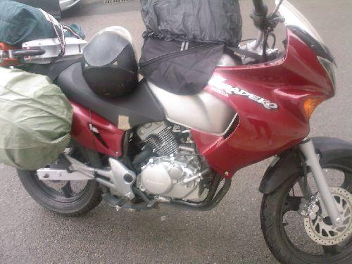 Le chargement général de la moto