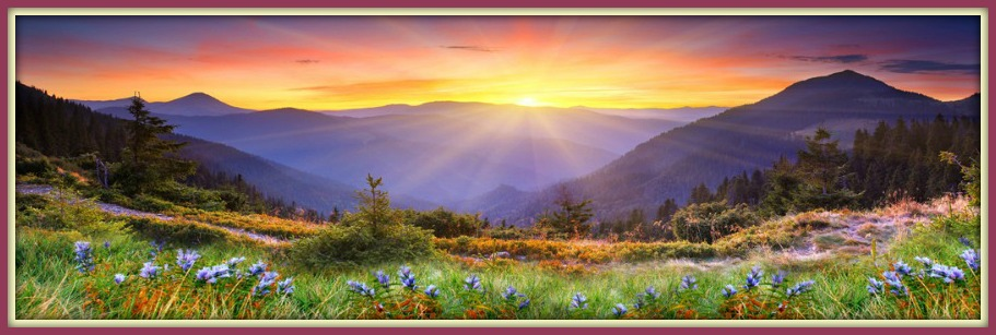 High-Quality-Canvas-Beautiful-flowers-mountains-and-sunrise-1-Panel-Set-HD-Canvas-Print-Painting-Artwork.jpg