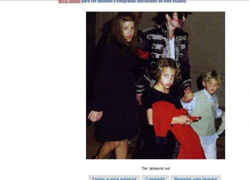 Michael Jackson,Lisa Marie Presley,avec les les enfants de Lisa Riley et Benjamain