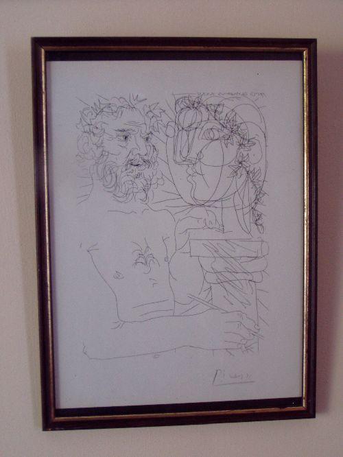 Picasso, suite Vollard, signé main, 1200€