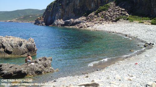 Vue plage  ancien port  Fontaine  Romaine