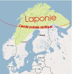 carte europe laponie