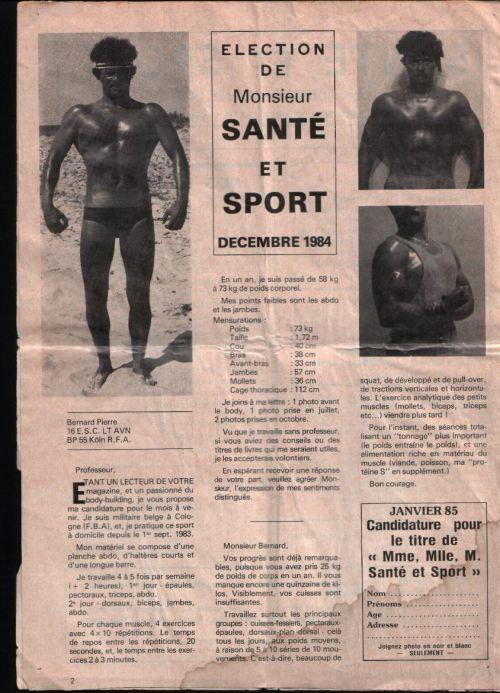 elu monsieur sport et sante decembre 1984