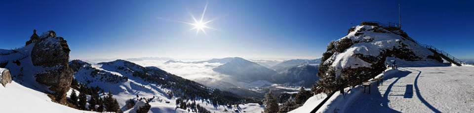 Alpes allemandes depuis le Wendelstein (Bavière, Allemagne)