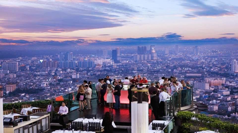 Bangkok (Thaïlande) depuis la terrasse du restaurant Sirocco