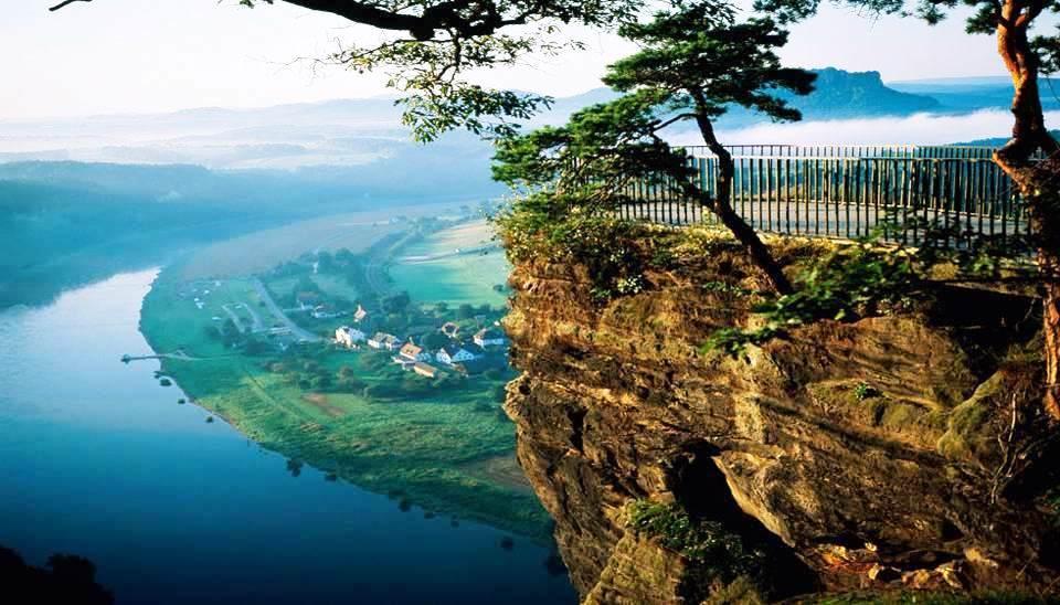 Belvédère de Bastei Rock (Saxe, Allemagne)