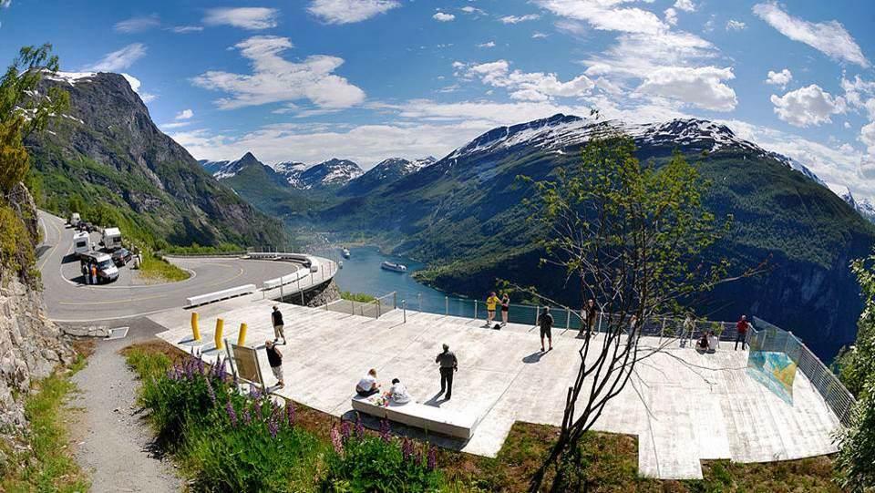 Belvédère Ornesvingen (Norvège)