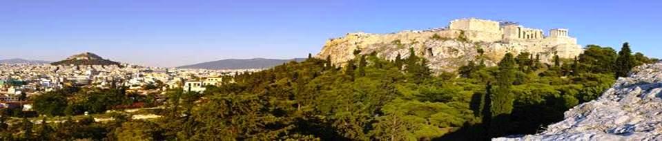 La ville d\\\'Athènes et l\\\'Acropole depuis le Mont Aréopage (Grèce)