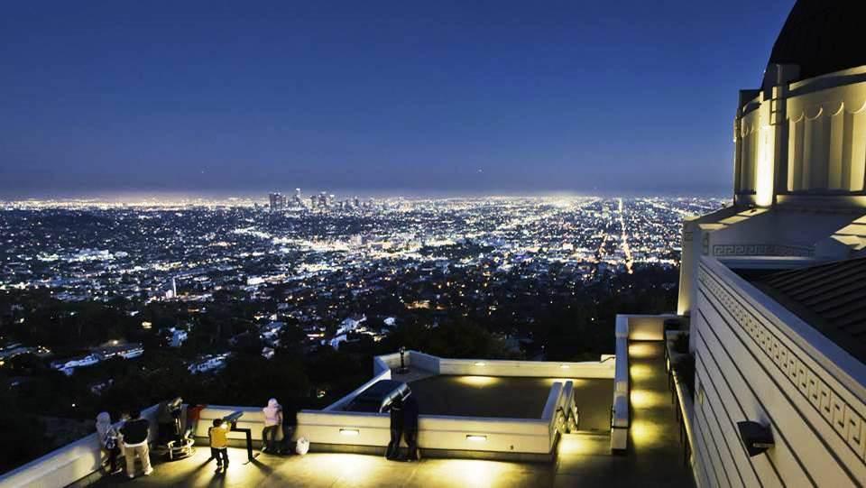 Vue de la ville de Los Angeles depuis l\\\'Observatoire Griffith