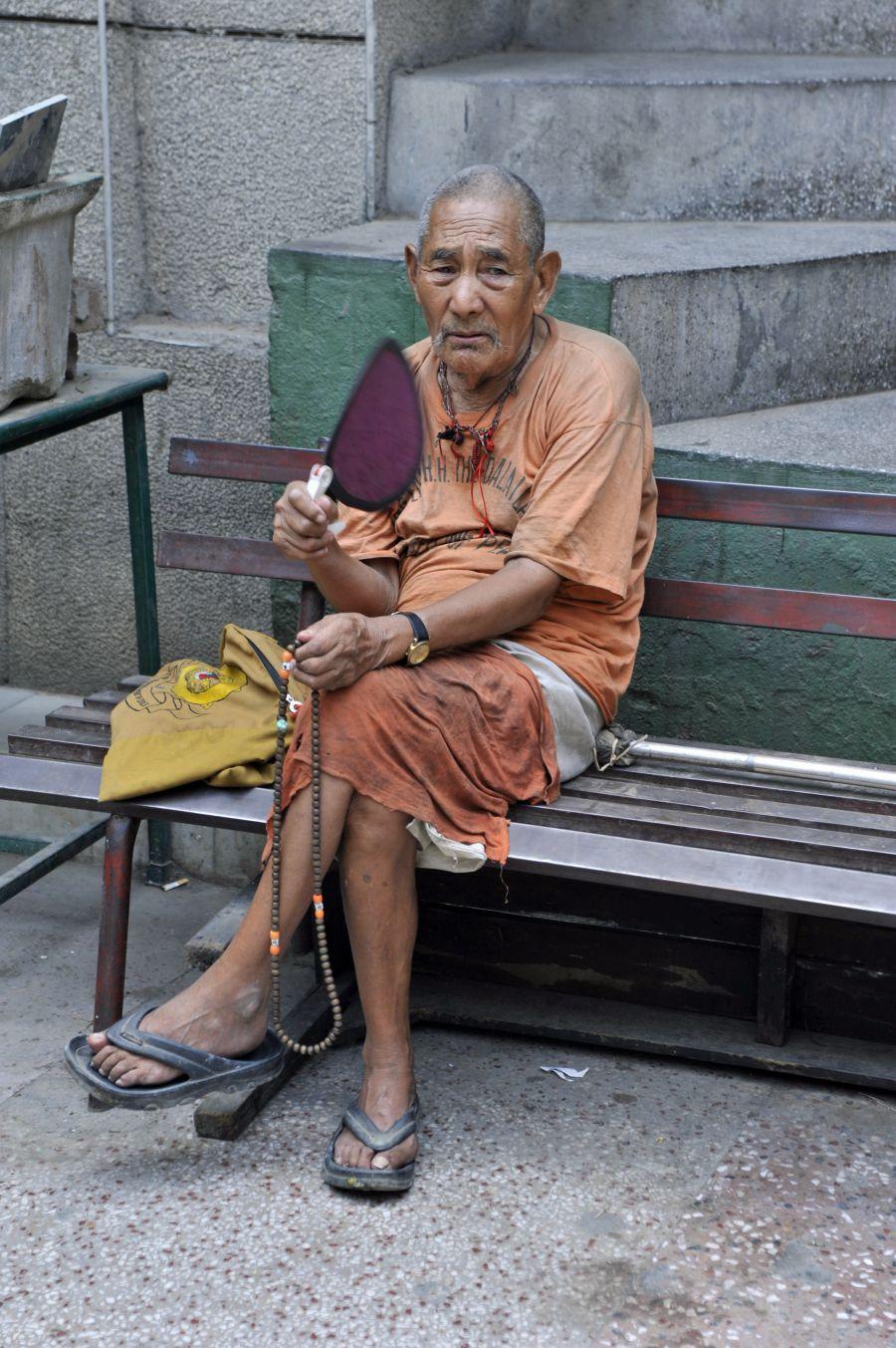 dans le quartier tibétain de Delhi