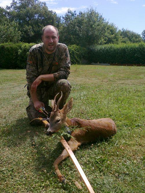 1er chevreuil tué à l'arc sur l'ACCA (saison 2010-2011)