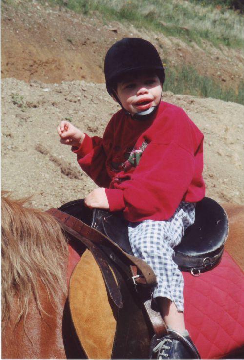 J'ai adoré faire du poney