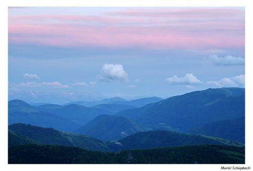 Lumière du soir les Apennins