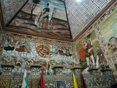 les fresques de l'église de Curahuara