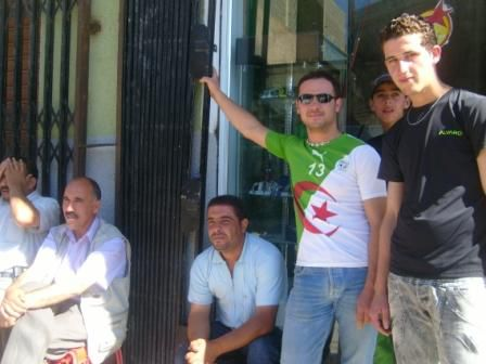 Lemroudj lors du Match Algérie-USA