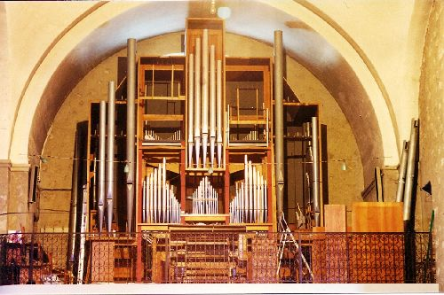 construction de l'Orgue