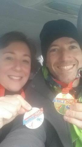 médaille d'or pour nos deux marcheurs Isabelle et Grégory aux régionaux à Lille
