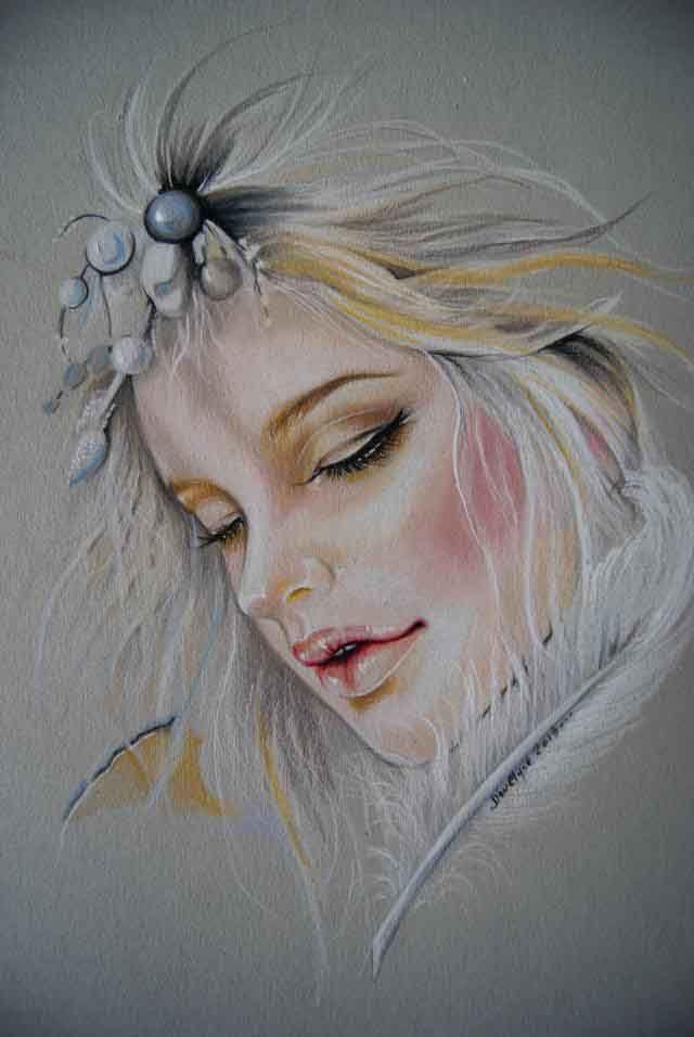 Bjd Eria  dessin au Prismacolor et Promarker