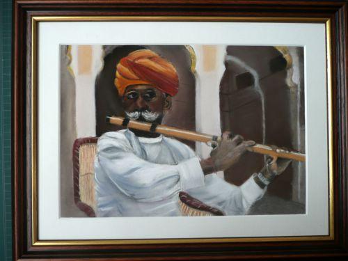 joueur de flûte du Rajasthan