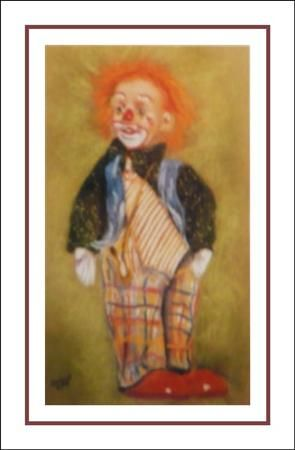 un clown (carte postale)