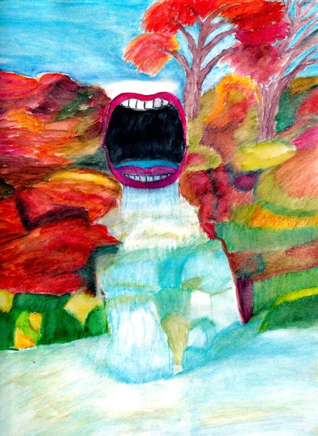 cascade aquarelle