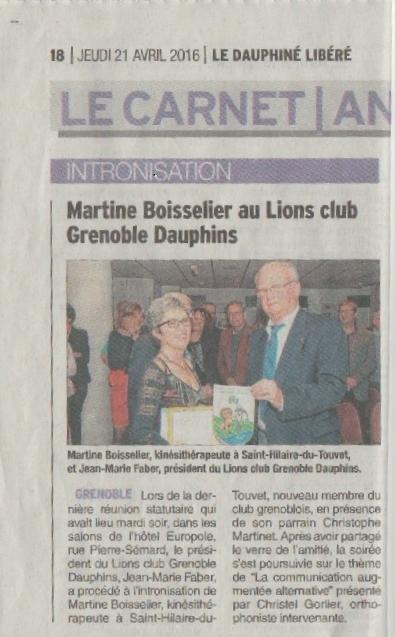 Article DL Intronisation Martine Boisselier 04.2016.jpg