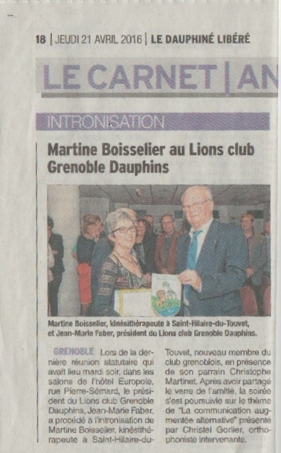 Article DL Intronisation Martine Boisselier 04.2016.jpg