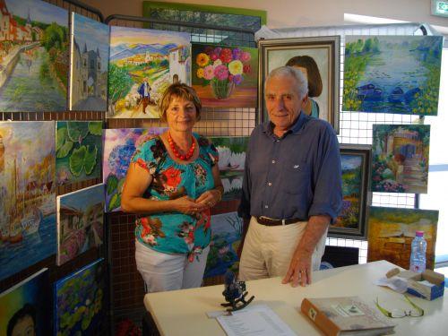 Visite de GYM artiste peintre