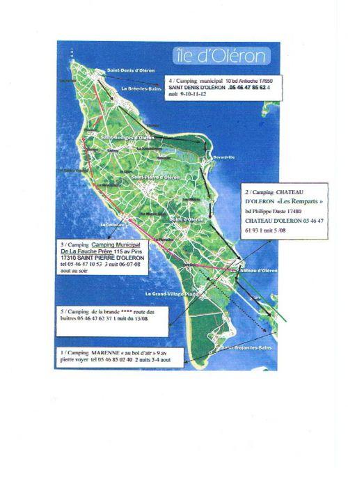 Notre parcours 14 jours / 214 km/ 12 nuits sur l'ile