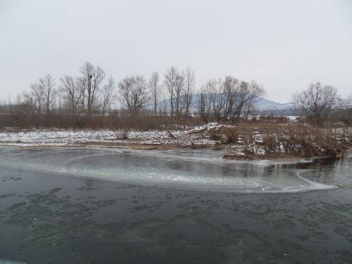 Découverte de l'Allier gelé