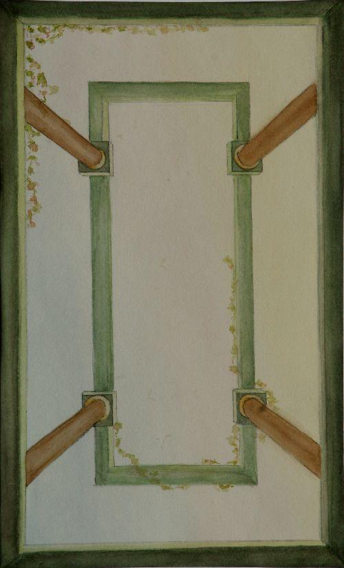 Perspective paravents en trompe l 39 oeil fresques suspendues originales - Paravent trompe l oeil ...