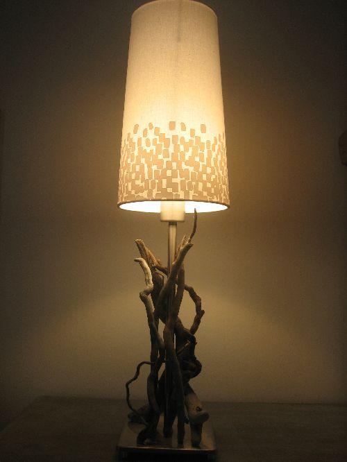 lampe de chevet en bois flotté 2