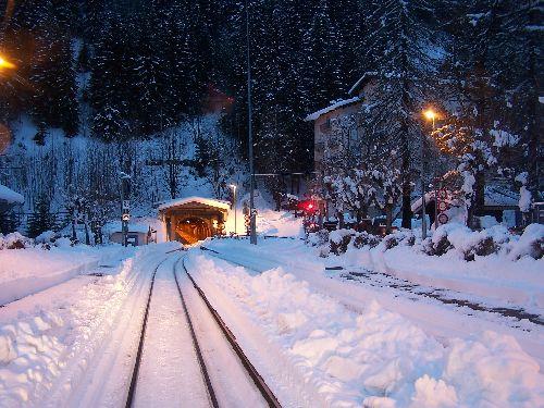 2009.12.23 Montroc, le tunnel pendant l'alternat 1