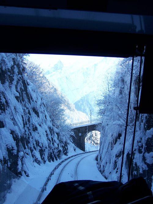 2010.01.12 En ligne entre Servoz et les Houches